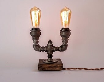 table lamp edison lamp steampunk lamp edison table lamp industrial table lamp