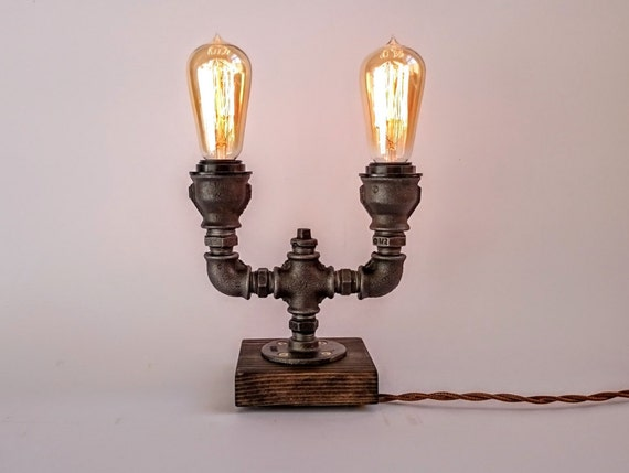 table lamp edison lamp steampunk lamp edison table lamp industrial. Black Bedroom Furniture Sets. Home Design Ideas