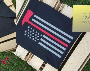 Firefighter Axe Flag Tee