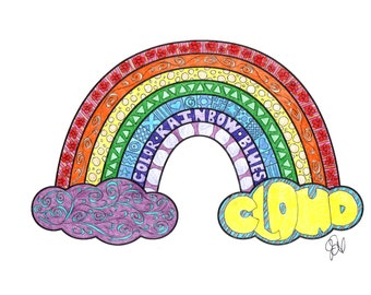 Rainbow Coloring Page!