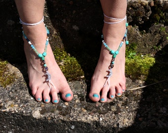 """Barefoot sandals """"the silver Moon"""""""