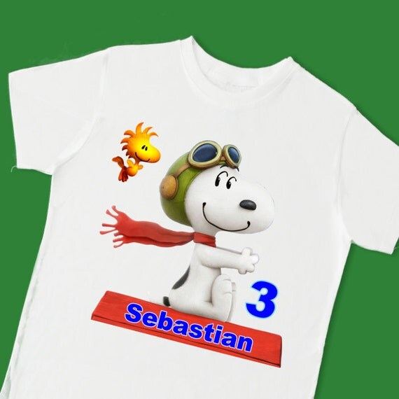 snoopy vs red baron tee personalized t shirt personalized with name. Black Bedroom Furniture Sets. Home Design Ideas