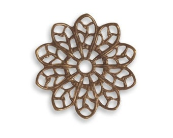 Vintaj 20.5mm Filigree Flower (6pcs)