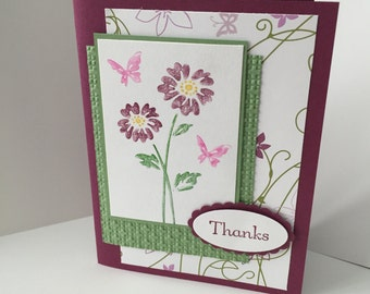 "Stampin Up handmade card ""Thanks"""