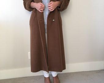 MAX MARA Vintage Camel Coat Medium 80's Italian made