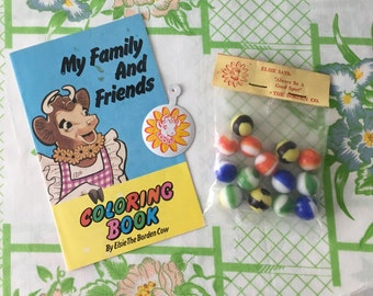 Vintage Elsie the Cow Coloring Book and History