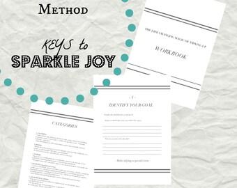 KonMari Method, KonMari Checklist, Marie Kondo Workbook, PDF Printable, Spark Joy PDF, Spark Joy Download, Declutter your home, decluttering