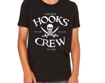 Disney Youth Tee  Captain Hooks Crew Shirt Peter Pan Shirt Captain Hook Shirt Disneyland Shirt Disney World Shirt  Tee Magic Kingdom Shirt