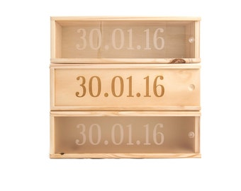 Wooden Wine Box (single) - Special date