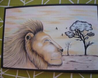 Inmate art, Lion drawing