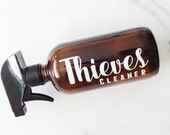 Thieves Cleaner AMBER 16 oz Glass BOTTLE with Decal