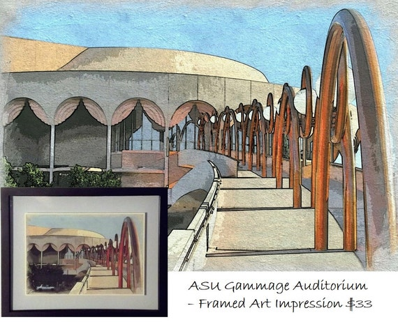 Frank Lloyd Wright S Asu Gammage Auditorium Framed Art