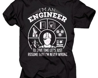 Engineer T-Shirt Funny Occupation Engineering T-Shirt