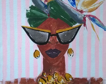 """Painting. """"A Tropical Queen TWO"""""""