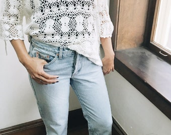 Hand-Crotched Lace Blouse