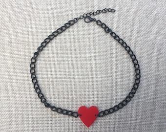 Heart Choker-Heart Necklace