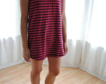 Sandro Striped Mini Shift Dress - Women's US 3