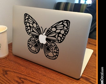 "BUTTERFLY Apple MacBook Decal Sticker fits 11"" 13"" 15"" and 17"" models"