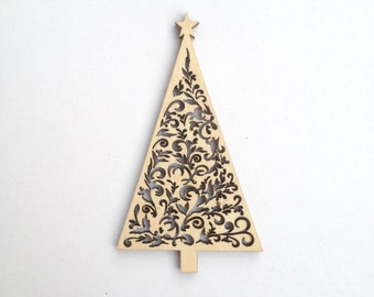 Amazing CHRISTMAS TREE laser cut wood ornament / Christmas decor / Laser cut wood / Laser engraved / Christmas decor /Christmas gifts / Idea