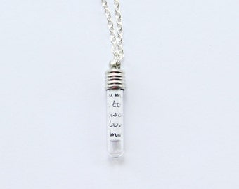 Pride and Prejudice secret message necklace
