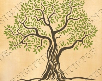 Green tree SVG, tree svg, print and cut files, svg,dxf,png,eps, Cricut, Silhouette, SVG designs, wall decor, tshirt designs, scroll saw