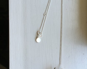 Sterling Silver Chain Floral Necklace