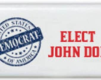 Democrat Seal Custom Personalized Dominoes Set