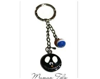 Black skeleton Keyring ball three colors