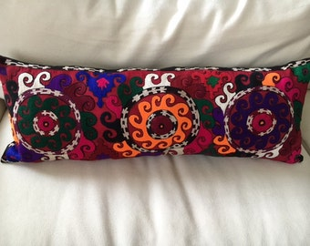 Hand Embroidered Suzani Textile Decorative Pillow