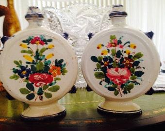 Cellini Italian Artist Floral Vases