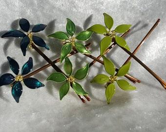 Bobby Pin Set-Green