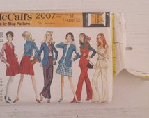 """Vintage 60's McCall's 2007 Jacket Skirt and Pants Sewing Pattern Bust 36"""""""