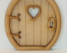Fairy Door Craft Kit - 3D Round Fairy Door Kit with Accessories, for Fairy Gardens, Skirting Board, Log Houses etc