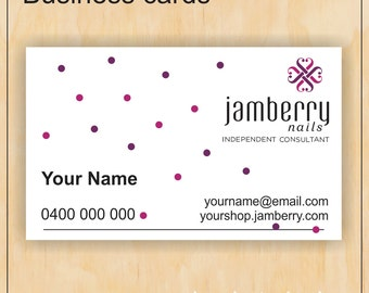 Business Cards for Jamberry Nails - spots - Digital PDF file