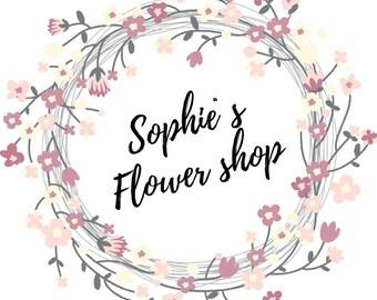 Premade Logo Design * Small business Logo * Blog header * Floral Logo Design