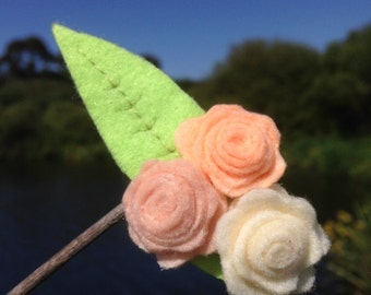 Floral Pastel Roses Hook