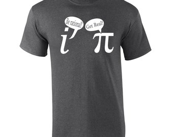 Be Rational Get Real funny math nerd geek school mathematics chemistry comedy retro vintage - Apparel Clothing - Mens T-shirt - 293