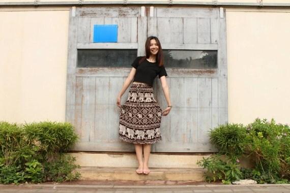 brown jupes jupes boh me jupes festival harem jupes hippie. Black Bedroom Furniture Sets. Home Design Ideas