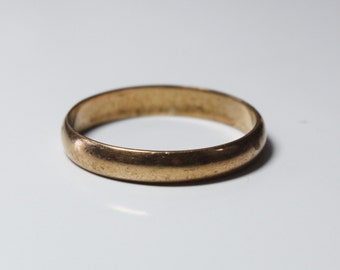 Vintage, 14K yellow gold 3.5mm wedding band - ring size 9.5