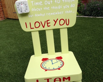 Green Time Out Chair/Timeout Chair - Personalised