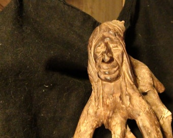 vintage driftwood Indian carving