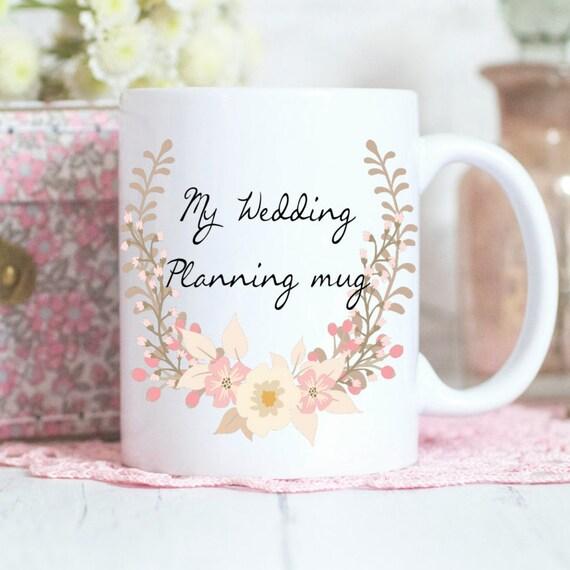 Wedding Planner Gift To Bride : Wedding planning mug, Engagement gift, Bride to be Gift, Coffee mug ...
