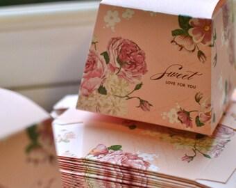 5 x Favour boxes I Favor box I Candy box I Jewellery box I Gift box I Sweet box I Wedding supplies I Favor boxes I Shabby chic wedding I Box