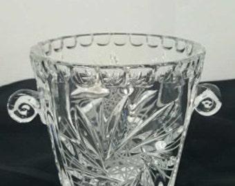 Vintage Crystal Ice Bucket or Vase