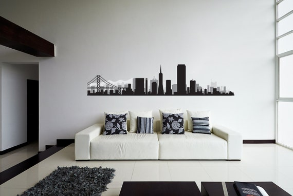 NQR Special: San Francisco City Silhouette Wall Decal Sticker
