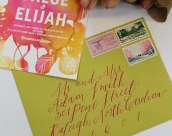 Custom Envelope Calligraphy : Robyn Style