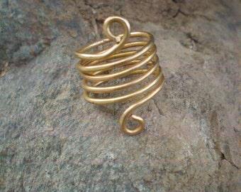 gold ethnic ring spiral