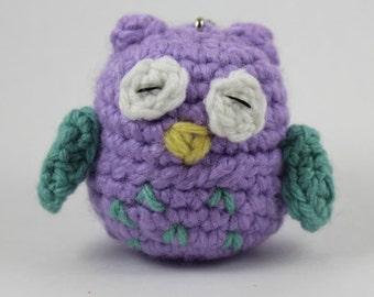 Sleepy Owl Crochet Eos Holder