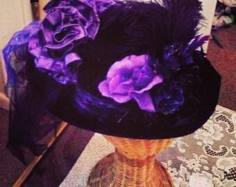 Black Velvet top hat