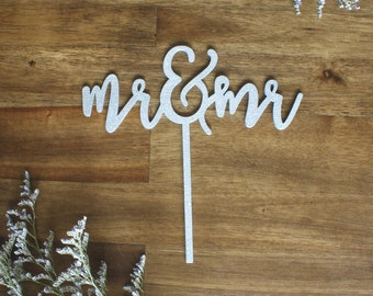 Mr. and Mr. Cake Topper Wedding Engagement Party LGBT
